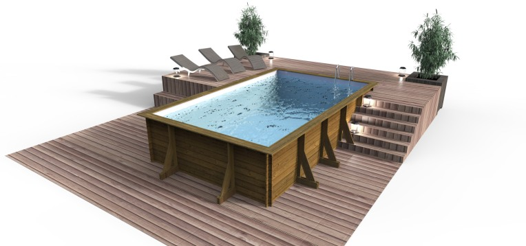 Piscine hors sol bois design more for Piscine hors sol bois design