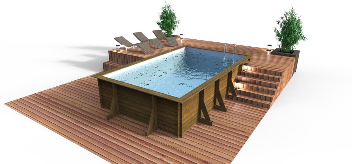 Piscine hors sol d m - Amenagement exterieur piscine hors sol ...
