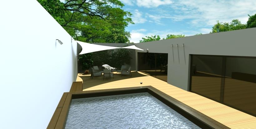 Rendering 3D terrasse