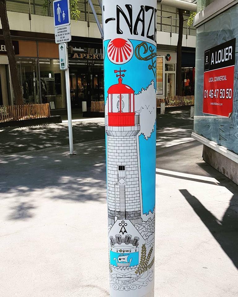 Affiche Street Art Sant-Nazer Saint-Nazaire
